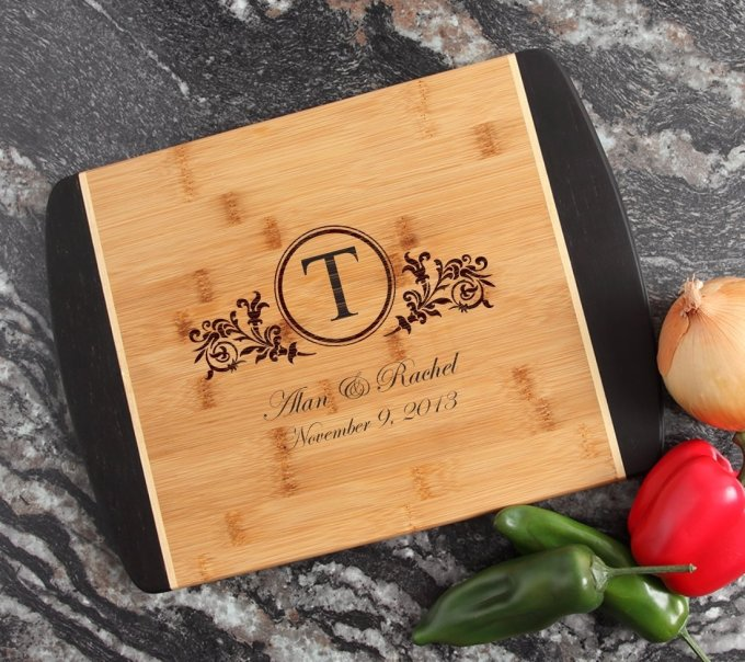 Engraved Cutting Board Personalized Bamboo 15 x 11 DESIGN 15 CBJ-015