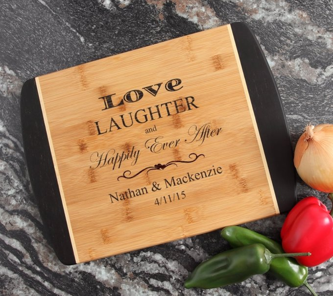 Engraved Cutting Board Personalized Bamboo 15 x 11 DESIGN 26 CBJ-026