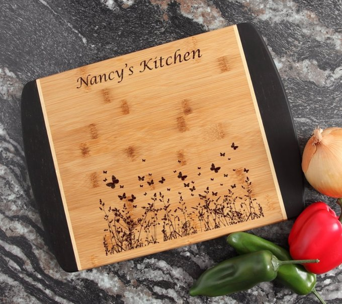 Engraved Cutting Board Personalized Bamboo 15 x 11 DESIGN 30 CBJ-030