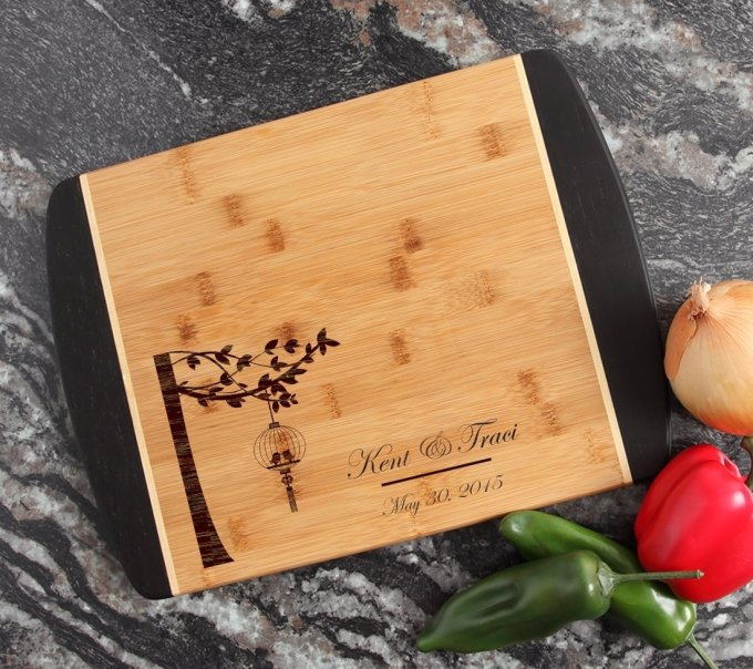 Engraved Cutting Board Personalized Bamboo 15 x 11 DESIGN 32 CBJ-032