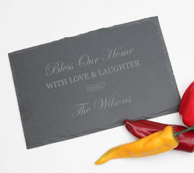 Personalized Slate Cheese Board 11 x 7 DESIGN 22 SCBS-022