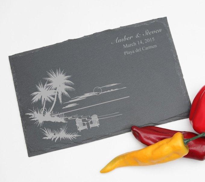 Personalized Slate Cheese Board 11 x 7 DESIGN 33 SCBS-033