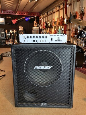 Peavey Sessionbass head with Peavey 115 BX Black Widow cabinet