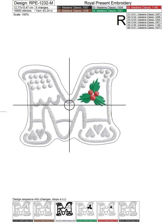 Дизайны машинной вышивки Пряники Merry Christmas