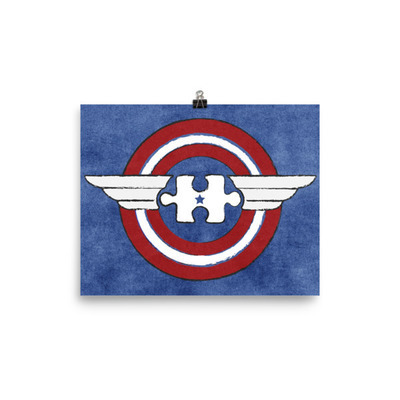Autism HeroeZ   Captain America Poster