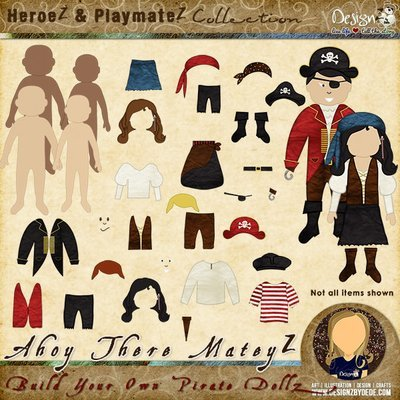 Ahoy There MateyZ   Build-Your-Own Pirate DollZ