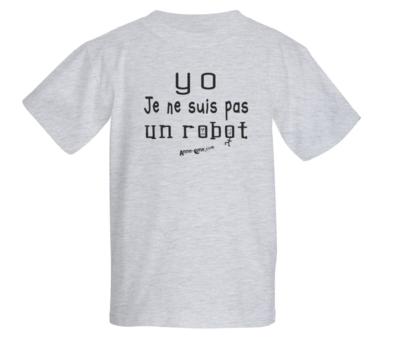 T-shirt enfant modèle robot (taille L)