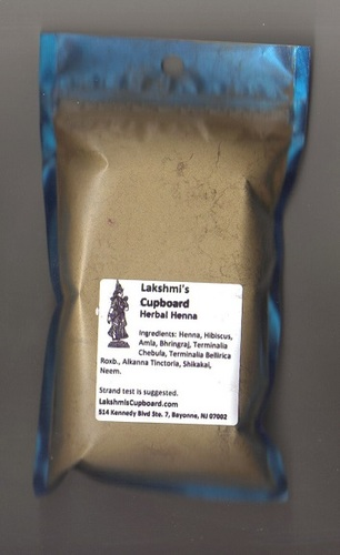 Herbal Henna Powder 1 lb - Body Art Quality with Amla, Shikakai, Bhringraj, Neem and Hibiscus 108