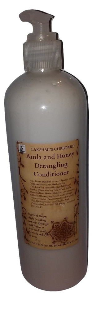 Amla and Honey Detangling Conditioner 16 oz w/ Neem and Shikakai (Leave-in Conditioner) 00019