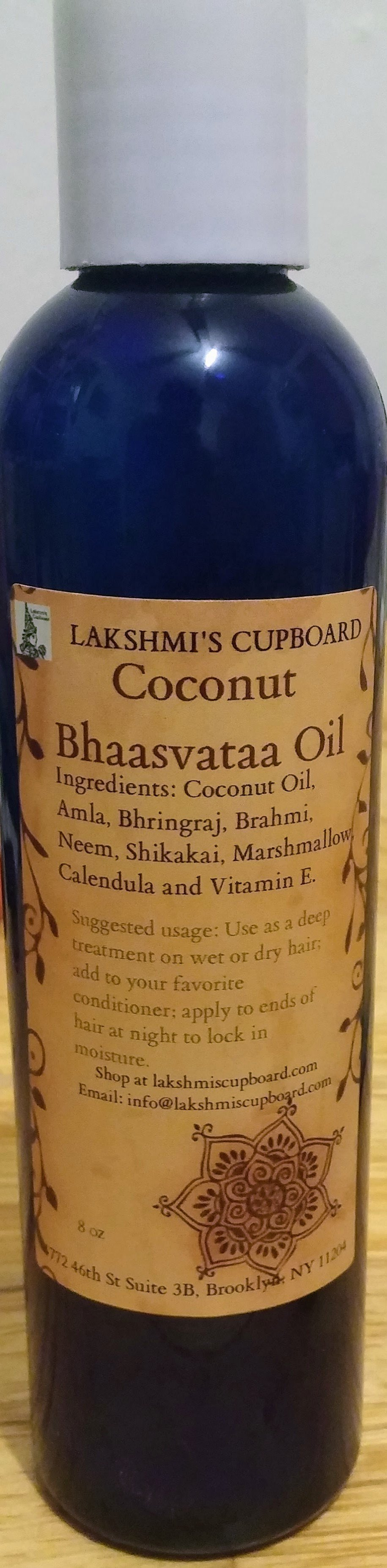 Bhaasvataa Coconut Oil w/ Amla, Shikakai, Neem Bhringraj, Calendula, Marshmallow and Brahmi 8 oz 00033