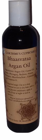 Bhaasvataa Argan Oil w/ Amla, Shikakai, Neem, Bhringraj, Calendula, Marshmallow and Brahmi 8 oz 00100