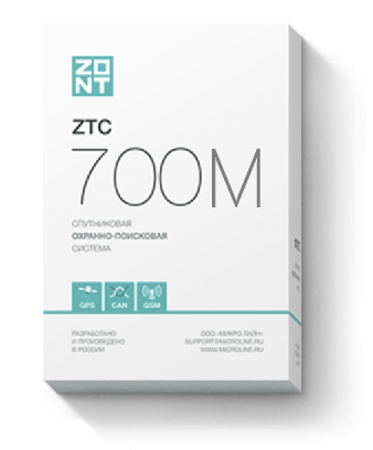 Спутниковая охранно-поисковая система ZTC 700M 00101