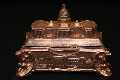 Swiss Chocolate Capitol (Solid and Airbrushed in Edible Copper)