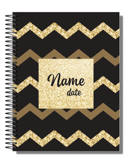 Personalised 2019 Bullet Planner A5 - Gold Rush 00084