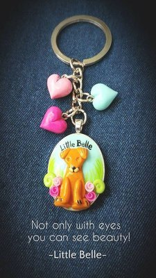 Little Belle's Keychain 'Happy!'