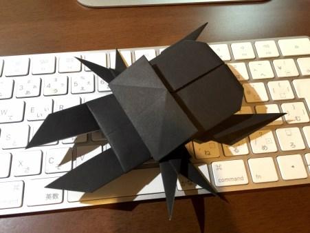 折り紙、クワガタムシ