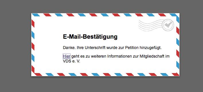 """alt=""""Dr. Berle Coaching unterzeichnet VDS-Petition"""""""