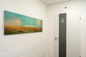 Gang zum WC in der Praxis Dr. med. Björn Geldmacher am Westfalendamm in Dortmund