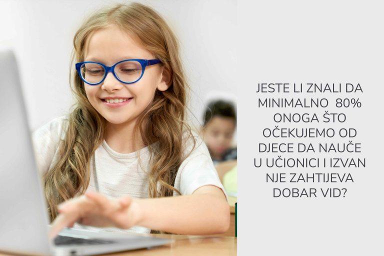 Odličan vid više je nego potreban za svakog školarca