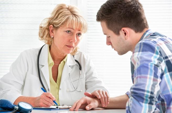 Mottagning hos doktorn