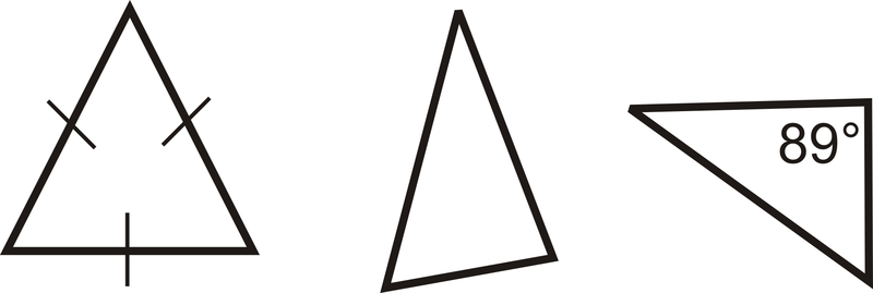 Triangle And One Least One Right Angle Obtuse Angle