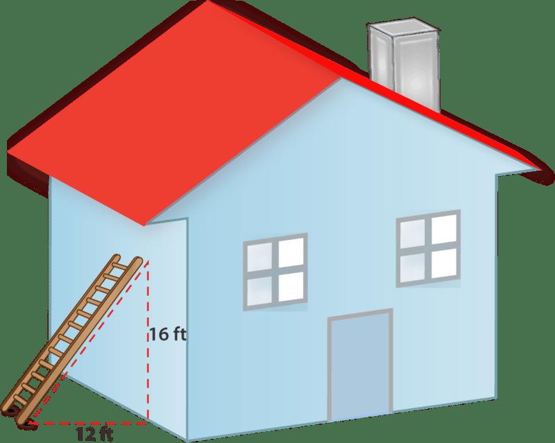Ladder Window Theorem Wall Pythagorean
