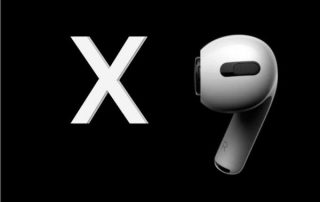 Apple AirPods X mafe up logo