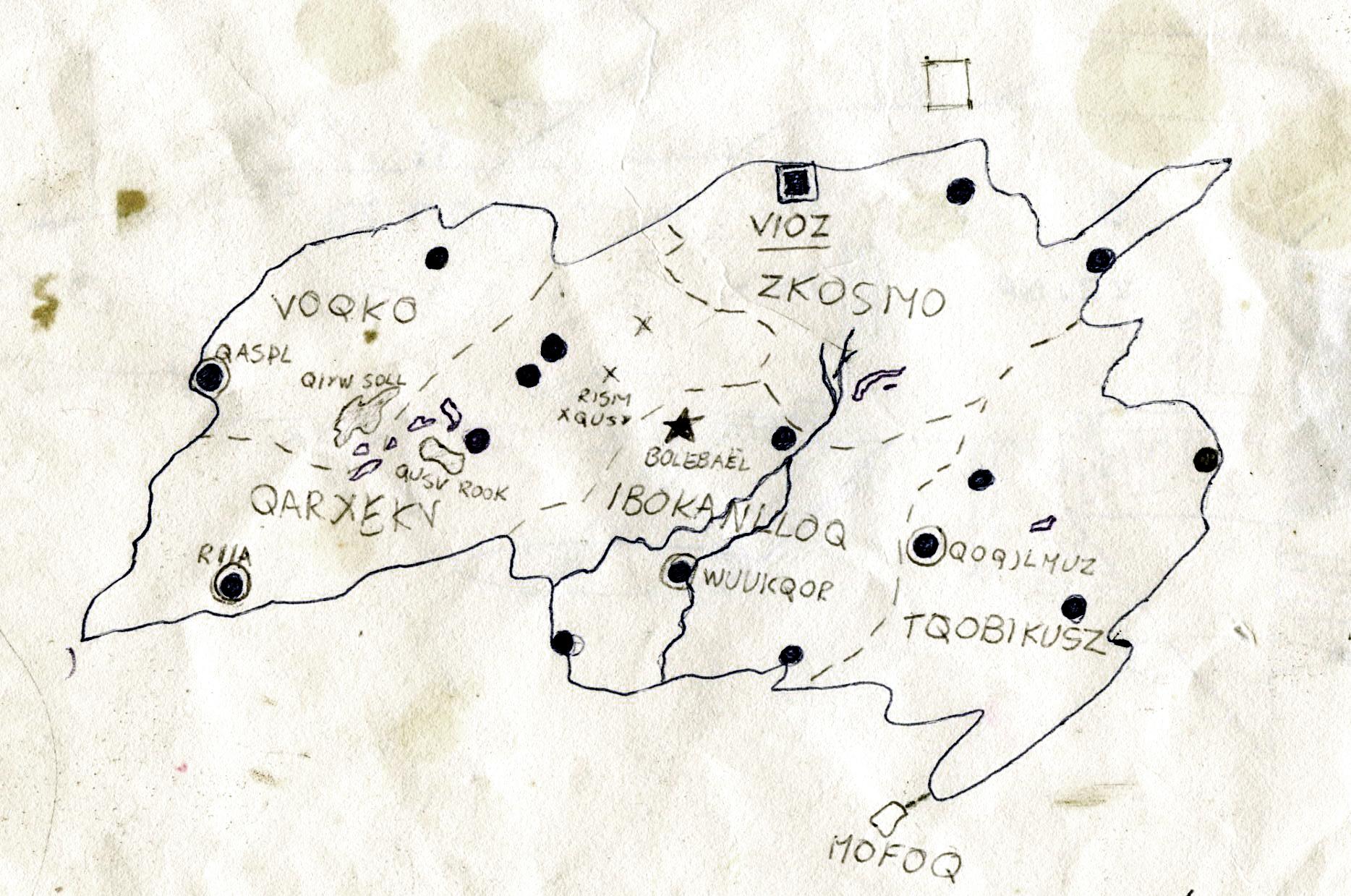 De allereerste kaart van Viozia