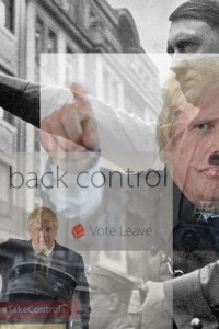 , The Actions of Boris Johnson are compared with the actions of Adolf Hitler by the very British People