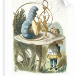 Alice and the catepillar