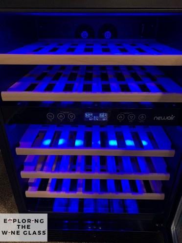 lighting in New Air wine fridge