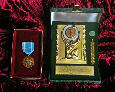 Awards United Nations Peace Medal ICEA Ambassadors Jakupca