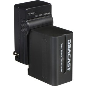 Dracast 1x NP-F 6600mAh Battery and 1 Charger Kit