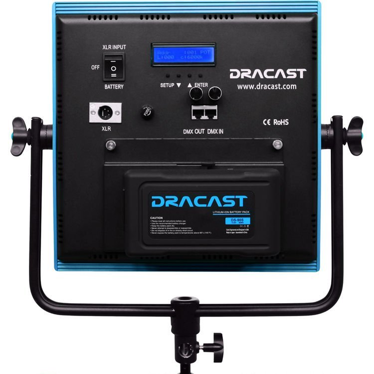 Dracast Plus LED1000 Bi-Color 3-Light Newsroom Kit with V-Mount and Gold Mount Battery Plates