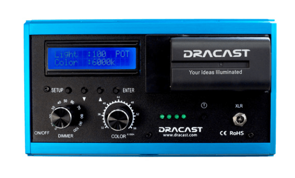 Dracast DRPL-LED200-BC On-Camera LED with Battery Combo Pack