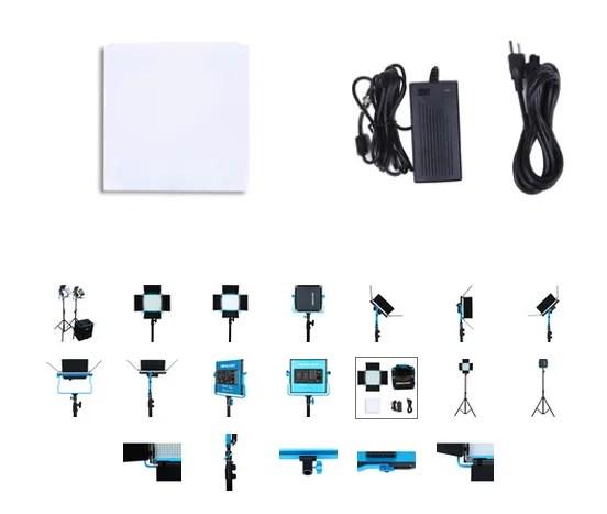 Dracast S-Series LED500 Plus Daylight LED 2-Light Kit with NP-F Battery Plates