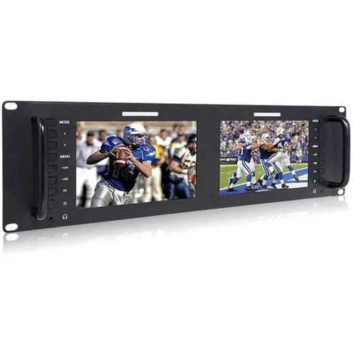 Avinair Spectre Dual Rack Monitor with HDMI, Video & Audio Inputs