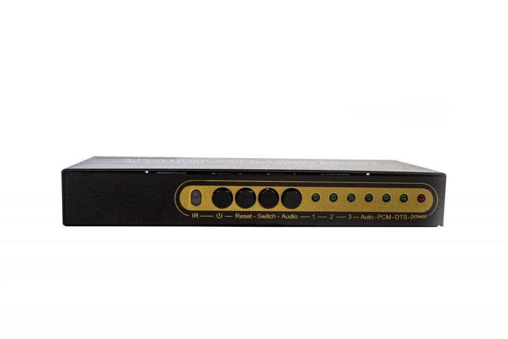Avinair Spitfire 3-Port 4K HDMI Switcher/Audio Extender (Metal Case)