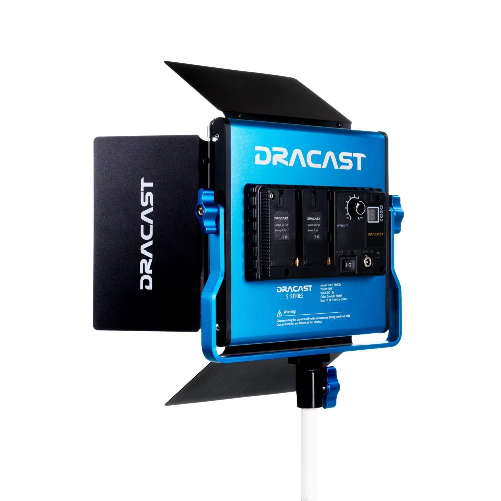 Dracast S-Series LED500 Daylight 5600K LED with NP-F battery plate