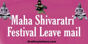 Festival Leave Application on Maha Shivaratri