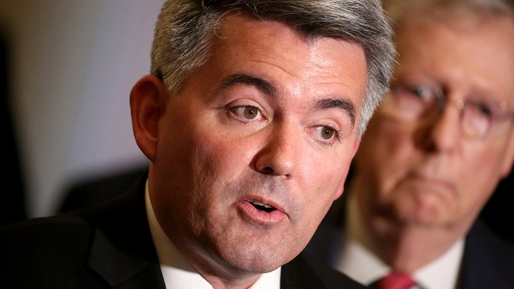 Cory Gardner GOP  senator  to  break  with  party,  vote  to  reopen  government  without  border  wall  cash