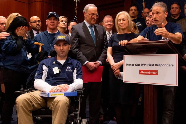 Cory Gardner Jon  Stewart  joins  legislators  in  push  for  9/11  victims  financing