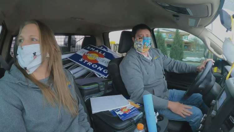 Cory Gardner Small Business Spreading Hope With Signs During Coronavirus Uncertainty – CBS Denver