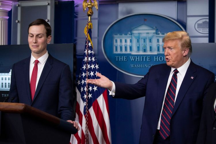 Cory Gardner Jared Kushner stands in for Trump, proceeds to offer a very Trumpian claim about stockpiles