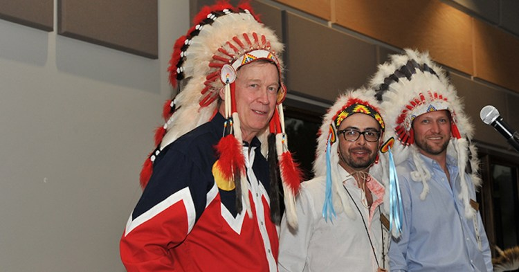Andrew Romanoff #DropOutHickenlooper, Say Indigenous Activists, After 'Disgraceful' Photos Surface of Former Gov in Imitative Native American Dress