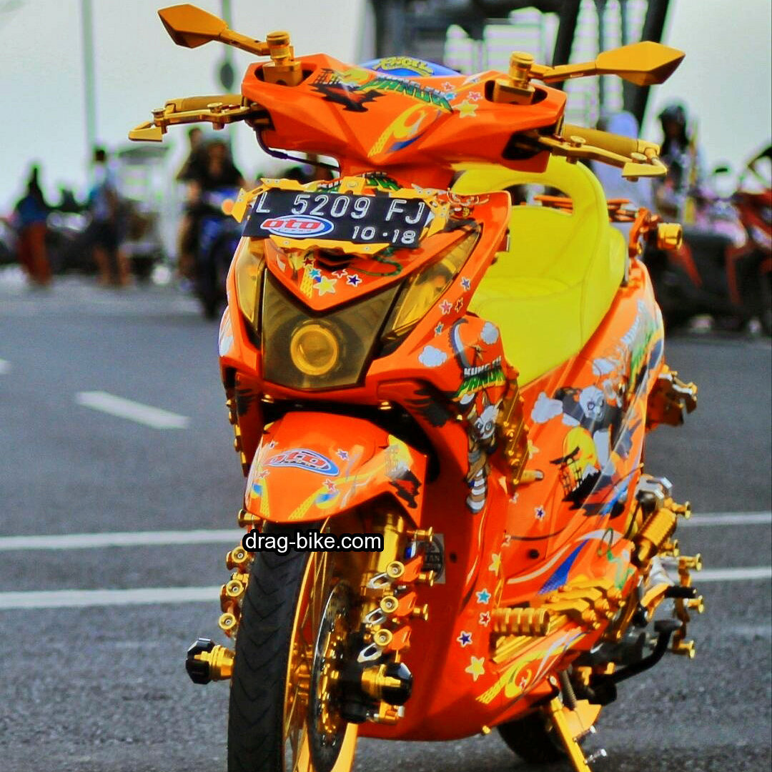 Modifikasi Motor Beat Orange Mobiliobaru