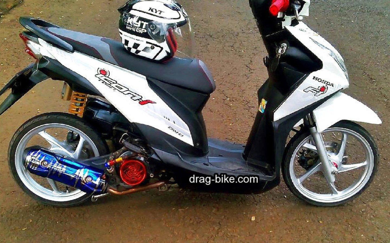 Modifikasi Honda Beat Esp Biru Putih Mobiliobaru