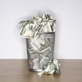 Dollarpapierkorb