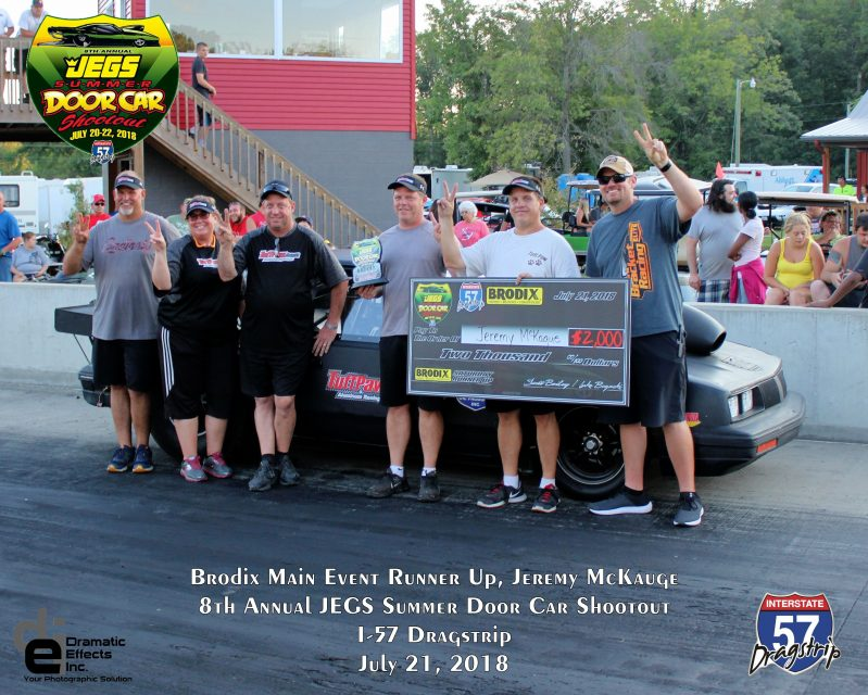 2018 jegs summer door car shootout brodix main event runner up