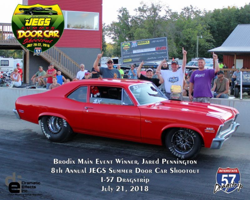 2018 jegs summer door car shootout brodix main event winner